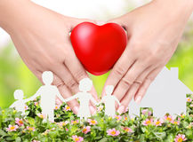 Heart in a hands Stock Image