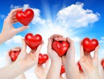 Heart in hands Stock Image