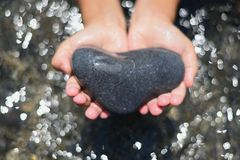 Heart and Hands. Stock Photography