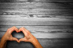 Heart in hands on  day in love. A happy valentine`s day in love and heart hands royalty free stock photos