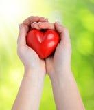 Heart in hands Stock Photo