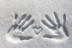 The heart with the hands hold. Symbolism - The heart with the hands hold Stock Photo