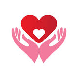 Heart in hands icon Royalty Free Stock Images