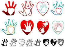 Heart and hands Stock Photos