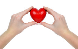 Heart in hands Royalty Free Stock Photography