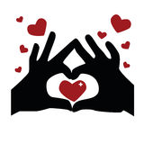 Heart hands Stock Photography