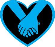 Heart hands. Vector illustration of hands in heart stock illustration