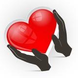Heart in Hands Vector Illustration Stock Photos
