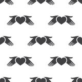 Heart hands, vector seamless pattern Royalty Free Stock Photography