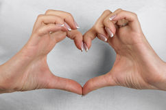 Heart hands Stock Photos