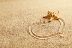 Heart handwritten Royalty Free Stock Images