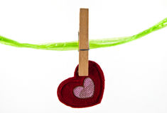 Heart hanging Royalty Free Stock Photo
