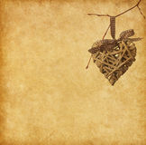 heart hanging on branch. Stock Photography