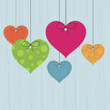 Heart hanging decorations Royalty Free Stock Photography