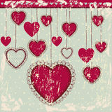 Heart hanging. Over blue background vector illustration Stock Photography