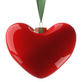 Heart hanging on a ribbon. Royalty Free Stock Image