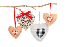 Heart hanging on a tree branch Royalty Free Stock Photo