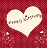 Heart happy birthday Stock Photos
