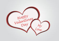 A heart for a happy valentine's day illustration Stock Photos