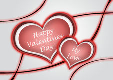 A heart for a happy valentine's day illustration Royalty Free Stock Photos