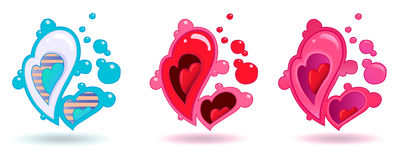 Heart, Happy valentines day. Love is in the Air. Royalty Free Stock Images