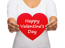 Heart with happy valentines day message Stock Images