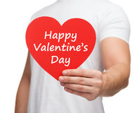 Heart with happy valentines day message Royalty Free Stock Photo