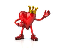 Heart haracter in crown Stock Photos