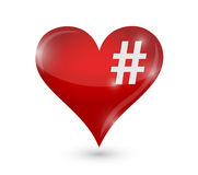 Heart and hashtag illustration design Stock Photography