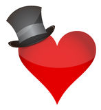 Heart with hat Stock Images