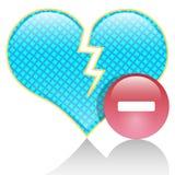 Heart of hate. Ilustrcija broken heart as a symbol of hatred stock illustration