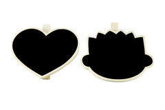 Heart and head blackboard Royalty Free Stock Photos