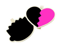 Heart and head board Stock Images