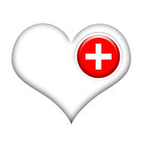 Heart Healing. Heart with medical cross isolated over white background Royalty Free Stock Photography
