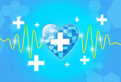 Heart health care background. EPS 10 Vector Royalty Free Stock Image