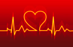 Heart Health care in red Royalty Free Stock Image