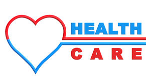 Heart with Health Care sign Royalty Free Stock Image