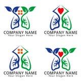 Heart Health Concept Logo Stock Photo