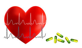 Heart and health Royalty Free Stock Image