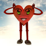 Heart health figure holding head Royalty Free Stock Photography