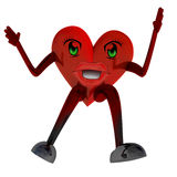 Heart health figure jump Stock Photo