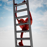 Heart health figure on metallic ladder Royalty Free Stock Photos
