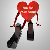 Heart health figure prepare for run Royalty Free Stock Image