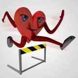 Heart health figure runner jump Royalty Free Stock Photography