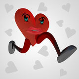 Heart health figure runs for love Royalty Free Stock Images