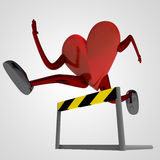 Heart health figure overcomes obstacle Stock Photos