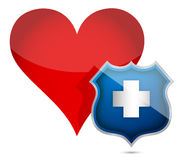Heart health protected illustration design Stock Photo