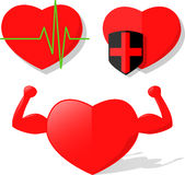 Heart Health Pulse Strength Vector Stock Image