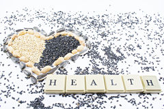 Heart, health and seeds. royalty free stock image