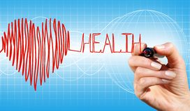Heart and health royalty free illustration